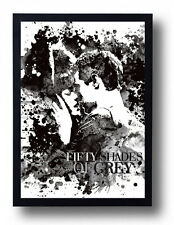 Fifty Shades of Grey Watercolor Art Print Movie Poster Mr. Grey Movie Art
