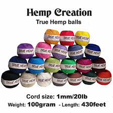 50True Hemp balls - HEMP CREATION - 20lb/1mm  or 10lb/0.5m  - 100gram each