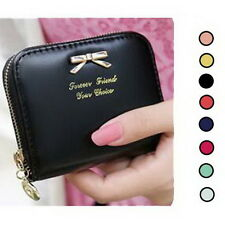 Womens Zip Small Mini Wallet Coin Purse Bowknot Handbag Card Holder Clutch Bags