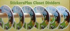 Custom Closet Size Dividers Clothes Organizer Baby Boy Girl Woodland Animals