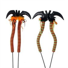 "Raz Very Long 42"" Halloween Posable Witch Legs/Boots/Shoes On Stakes Assorted"