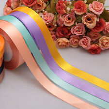 Sale Multicolor Nice 25 Yards A Role Unique Satin Ribbon Craft 10mm 15mm