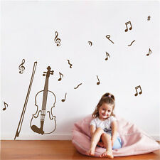 Vinyl Art Removable Wall Sticker Home Decor Mural DIY Decals Violin And Notes