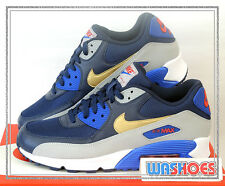 Nike Air Max 90 Essential Midnight Navy Gold Grey 537384-409 US 8~12 Running NSW