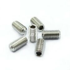 M3 M4 A2 Stainless Steel DIN916 Grub Screws Cup Point Hex Socket Set Screws