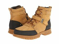 Polo Ralph Lauren Mens Damien Wheat Casual Lace Up Buckle Winter Ankle Boots