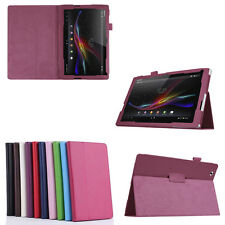 Stylish Ultra Slim PU Leather Flip Folio Case Cover Pouch Stand for Sony Tablet