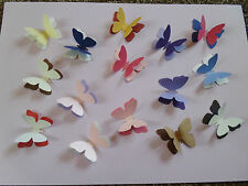 20 3d 2TONE PEARLESCENT 2 INCH 5CM BUTTERFLY WEDDING TABLE CONFETTI CARD TOPPER