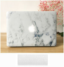 Macbook Pro 13 15 Retina Case- GMYLE Hard Case Print Frosted-White Marble Cover