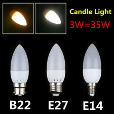 E14 E27 B22 3W 2835 SMD LED Candle Bulb Light Spot Lamp 3W=35W Ultra Bright 2015