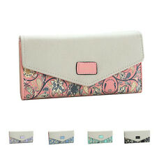 Hot Women Leather Wallet Envelope Purse Card Holder Mobile Bag Long Zip Handbag