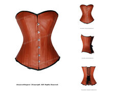 Full Steel Boned Heavy Lacing Leather Overbust Shaper Corset #HC8329(LE)
