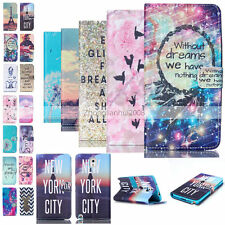 Luxury Painted Magnetic Money Wallet Flip Leather Case Cover For Samsung Galaxy