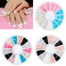 Nail Art Decoration Mix Colors 3D Mni Butterfly Bow Tie Bowknot in Wheel