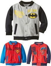 Kids Boys Clothes Superman Spiderman Hero Coats Jackets Outerwears Tops 0-5Years