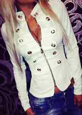 Women's Double-breasted Jacket Tops Long Sleeve Slim Coat Casual Jacket Tops