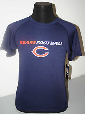 CHICAGO BEARS  - YOUTH - BLUE POLYESTER SHORT SLEEVE SHIRT - NWT - LICENSED
