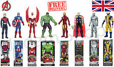 "12 ""MARVEL TITAN HERO ACTION FIGURE AVENGERS IRON MAN WOLVERINE THOR HULK ANT"