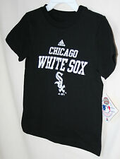 "CHICAGO WHITE SOX  ""ADIDAS""  KID'S BLACK TEE SHIRT   NWT  LICENSED"
