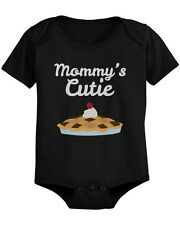 Mommy's Cutie Pie Baby Bodysuit Cute Infant Black Onesie Gift for Baby Shower