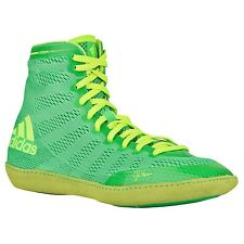 Adidas Adizero Varner MEN'S Wrestling Shoes,Flash Lime/Yellow  S77932  NEW!