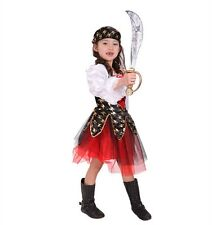 Girls Pirate Clothes Captain Dress Halloween Cosplay Children Complete Costumes
