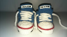 BABY CROCHET TRAINERS/HAND-MADE/KNIT/SNEAKERS/SHOES/BOOTIES/GIRL,BOY