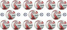 15 x MITRE IMPEL TRAINING FOOTBALLS - WHITE/RED - SIZES 3, 4 & 5