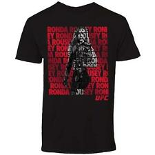 """NEW OFFICIAL UFC T-SHIRT """"RONDA ROUSEY REPEAT"""" BLK/RED/GRY MMA CHAMPION UFC 193"""