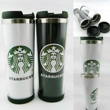 14oz Starbucks Double Wall Coffee Mug Tumbler Stainless Steel Travel Cups