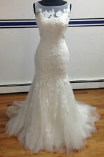 New White/Ivory Lace Wedding Dress Bridal Gown Size:6/8/10/12/14/16/18