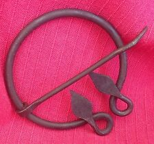 Viking Penanular Solid Iron Leaf Brooch - Fibulae - SCA Celtic Medieval Renn