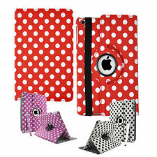 Polka Dots Leather 360° Rotating Stand Case Cover For iPad 2, iPad 3 & iPad 4