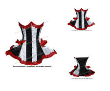 22 Double Steel Boned Waist Training Satin Underbust Shaper Corset 8408(DB-SA)