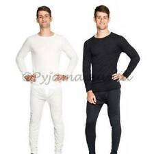 Mens Merino Wool Bld Thermal Underwear 2pc Set Black / Beige sizes S-XXL