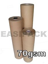 Strong BROWN WRAPPING PAPER Kraft Rolls (70gsm) for Packing and Posting Parcels