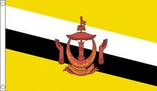 Brunei Flag 5 x 3 FT - 100% Polyester With Eyelets - Commonwealth Games