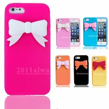 3D Bowknot Soft Silicone Rubber Case Cover Skin Shell for iPhone 6 6+ Plus 5 5s