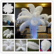 Wholesale 10-200pcs High Quality Natural WHITE OSTRICH FEATHERS 6-28inch/15-70cm