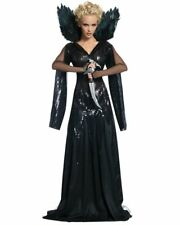 CL490 Deluxe Queen Ravenna Evil Snow White & The Huntsman Womens Costume + WINGS