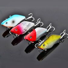 Outdoor Fishing Tackle Bait Lures Metal Triple Barb Hooks Crankbaits Sheet Iron