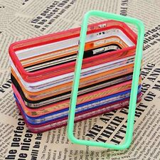 Color Clear Thin TPU Silicone Bumper Frame Case  for iPhone 5 5C 5S