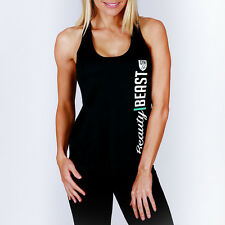 New Ladies Workout Poly Sports Racer Back Tank Tee Womens Gym Singlet MACRI Top
