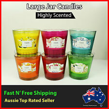 Scented 100% Soy Wax Candles Jar - Hour hr Burn Time All Natural Candle