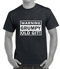WARNING GRUMPY GIT t-shirt  funny mens rude tshirt fashion cheap cool present