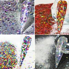CHRISTMAS NAIL ART ROCKSTAR GLITTER MIXES SUITABLE FOR ACRYLIC & GEL NAILS