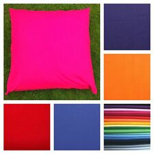LARGE FLOOR CUSHION COVERS Plain Solid Colours 80 CM, 90 CM OR 100 CM.