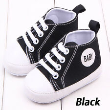 Toddler Infant Baby Boy Girl Soft Sole Crib Shoes Sneaker Newborn Age 0-12 Month