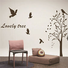 Vinyl Art Wall Stickers Home Decor DIY Lovely Tree Birds And Leaves Decals