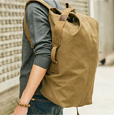 Casual men's canvas travelling backpack Hiking knapsacks camping shoulder bag